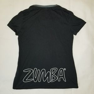 Black ZUMBA T shirt Size Small